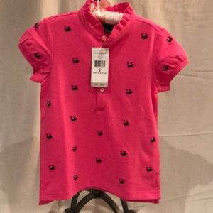 Polo by Ralph Lauren Shirts & Tops - Polo Ralph Lauren NWT pink schiffli mesh polo